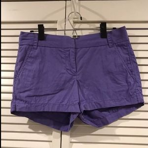 J. Crew Women's Purple Casual Chino Twill Shorts S